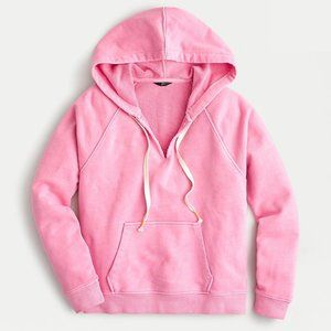 J. Crew || V-Neck Hoodie in Original Terry Cotton